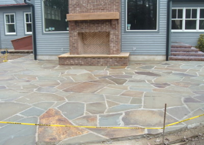 Herringbone Firebox and Bluestone Patio