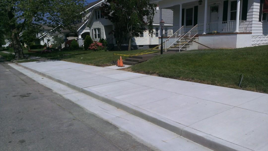 Concrete Sidewalk, Curb, Gutter