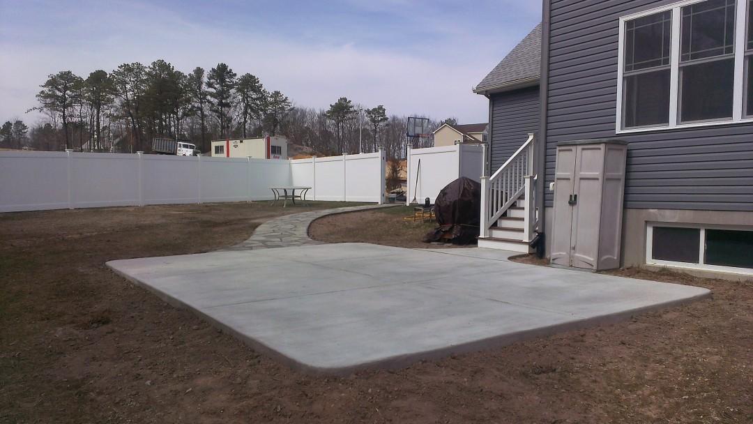 Concrete Patio and Bluestone Sidewalk